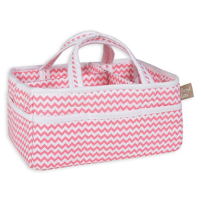 Alternate image 1 for Trend Lab® Chevron Storage Caddy in Coral