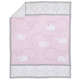 Nautica Kids® Mix & Match Whale Comforter in Grey/Pink