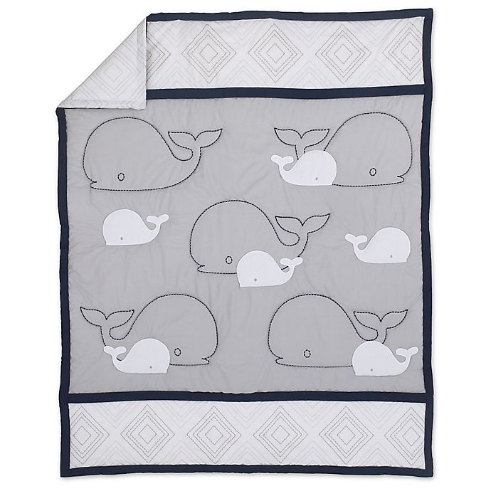 Alternate image 1 for Nautica Kids® Mix & Match Sailboat Comforter in Navy/Grey