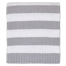 Nautica Kids® Mix & Match Chenille Striped Blanket in Grey