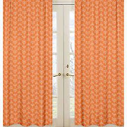 Sweet Jojo Designs Arrow Window Panel Pair in Orange/White