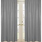 Sweet Jojo Designs Navy and Grey Stripe Window Panel Pair in Grey