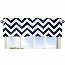 Sweet Jojo Designs Chevron Window Valance in Navy/White
