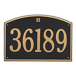 Whitehall Products 1-Line Personalized Address Wall Plaque in Black/Gold
