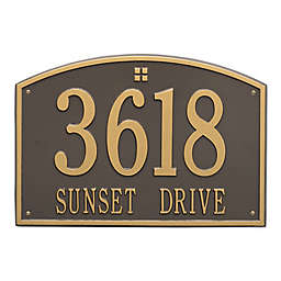 Whitehall Products 2-Line Personalized Address Wall Plaque in Bronze/Gold