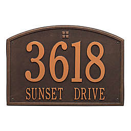 Whitehall Products 2-Line Personalized Address Wall Plaque
