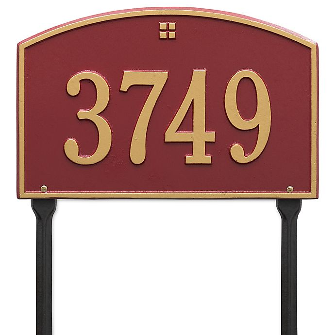 Alternate image 1 for Whitehall Products Cape Charles 1-Line Standard Lawn Plaque in Red/Gold
