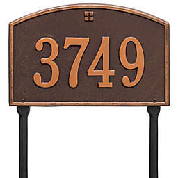 Whitehall Products Cape Charles 1-Line Standard Lawn Plaque in Antique Copper