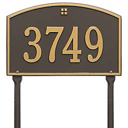 Whitehall Products Cape Charles 1-Line Standard Lawn Plaque in Bronze/Gold