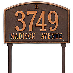 Whitehall Products Cape Charles 2-Line Standard Lawn Plaque in Antique Copper