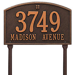 Whitehall Products Cape Charles 2-Line Standard Lawn Plaque Bronze