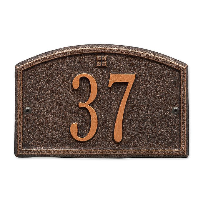 Alternate image 1 for Whitehall Products Cape Charles 1-Line Petite Wall Plaque in Bronze