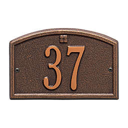 Whitehall Products Cape Charles 1-Line Petite Wall Plaque in Antique Copper