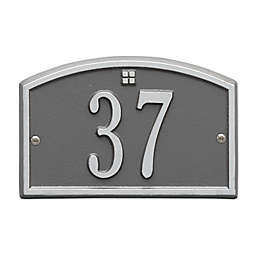 Whitehall Products Cape Charles 1-Line Petite Wall Plaque in Pewter/Silver