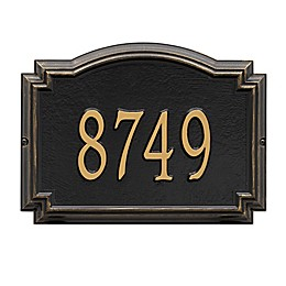Whitehall Williamsburg 1-Line Standard Wall Plaque in Pewter/Silver