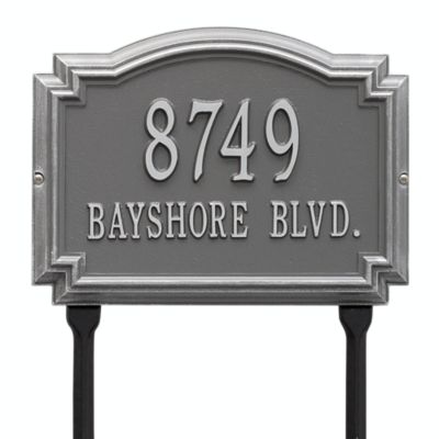 69b29088125d Mailbox plaques bearing your name and address add a touch of class and make  everyday mail seem special. Enhance the beauty of your home with an elegant  ...