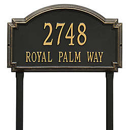 Whitehall Products Williamsburg Two Line Lawn Plaque