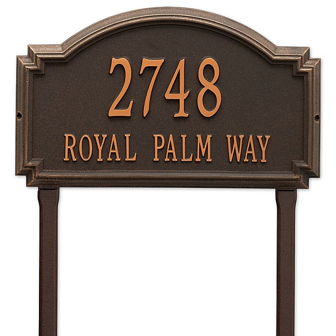 Alternate image 1 for Whitehall Products Williamsburg Two Line Lawn Plaque in Bronze
