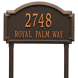 Whitehall Products Williamsburg Two Line Lawn Plaque in Bronze
