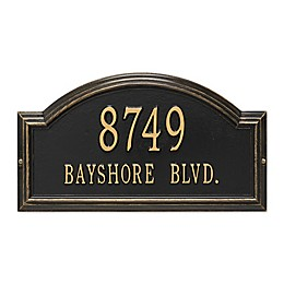 Whitehall Products Standard 2-Line Providence Arch Wall Address Plaque