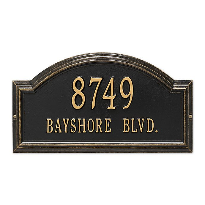Alternate image 1 for Whitehall Products Standard 2-Line Providence Arch Wall Address Plaque