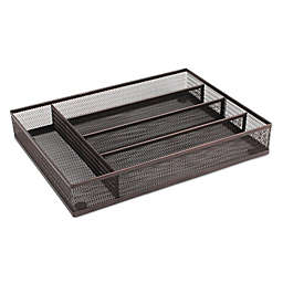 ORG Mesh Kitchen Drawer Tray Organizer in Bronze