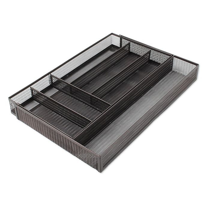 Org Mesh Expandable Kitchen Drawer Tray Organizer In Bronze
