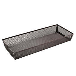 ORG Mesh 6-Inch x 15-Inch Oblong Kitchen Drawer Organizer in Bronze