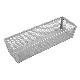 ORG Powder-Coated 3-Inch x 9-Inch Mesh Drawer Organizer in Silver