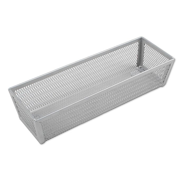 Alternate image 1 for ORG Powder-Coated 3-Inch x 9-Inch Mesh Drawer Organizer in Silver