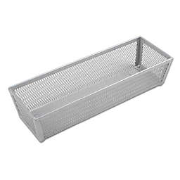.ORG Powder-Coated 3-Inch x 9-Inch Mesh Drawer Organizer in Silver