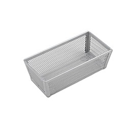 ORG Powder-Coated 3-Inch x 6-Inch Mesh Drawer Organizer in Silver