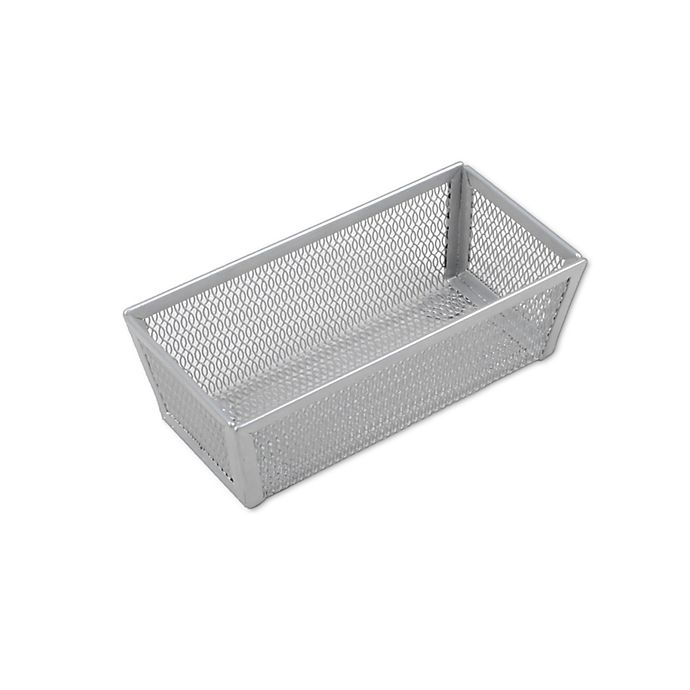 Alternate image 1 for ORG Powder-Coated 3-Inch x 6-Inch Mesh Drawer Organizer in Silver