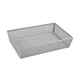 ORG Powder-Coated 6-Inch x 9-Inch Mesh Drawer Organizer in Silver