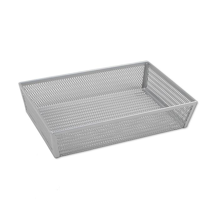 Alternate image 1 for .ORG Powder-Coated 6-Inch x 9-Inch Mesh Drawer Organizer in Silver