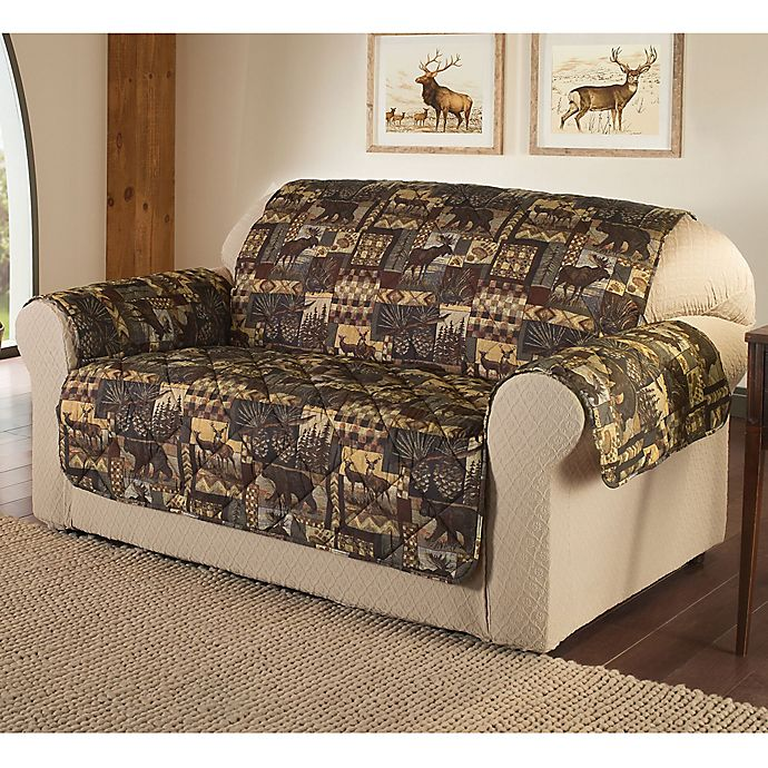 Groovy Lodge Furniture Cover In Brown Bed Bath Beyond Pabps2019 Chair Design Images Pabps2019Com
