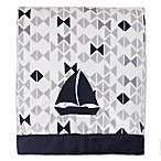 Nautica Kids® Mix & Match Velboa Sailboat Blanket in Navy/Grey