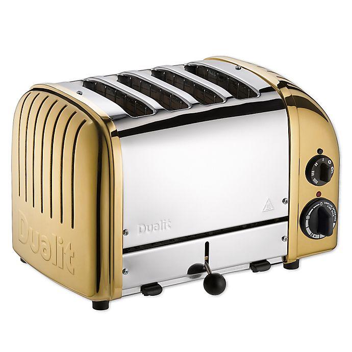 Alternate image 1 for Dualit® NewGen 4-Slice Toaster in Brass