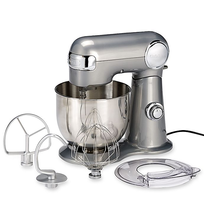 Alternate image 1 for Cuisinart® 5.5 qt. Stand Mixer in Brushed Chrome