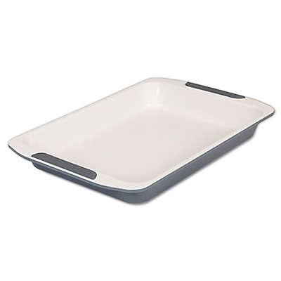 Viking® Ceramic Coated 14-Inch Roast Pan in Cream/Grey