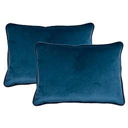 Sherry Kline Richmond Velvet Boudoir Oblong Throw Pillow (Set of 2)