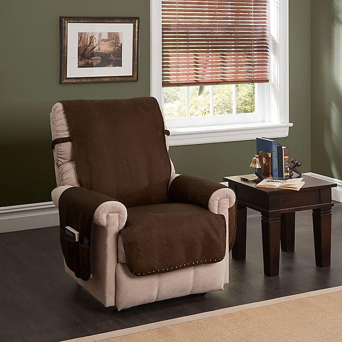 Magnificent Faux Leather Recliner And Wingback Chair Protector Theyellowbook Wood Chair Design Ideas Theyellowbookinfo