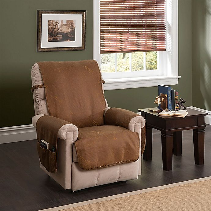 Buy Faux Leather Recliner And Wing Chair Protector Cognac