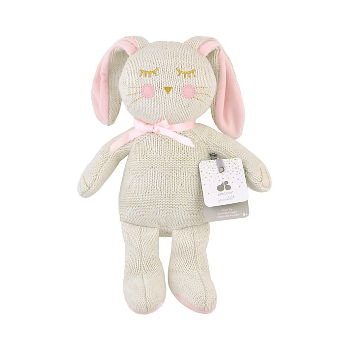 Alternate image 1 for Just Born® Sparkle Bunny Sweater Knit Plush Toy