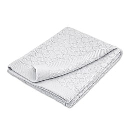 Just Born® Sparkle Sweater Knit Blanket in Grey