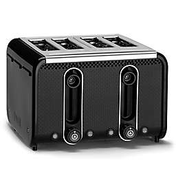 Dualit® Stainless Steel 4-Slice Studio Toaster in Black