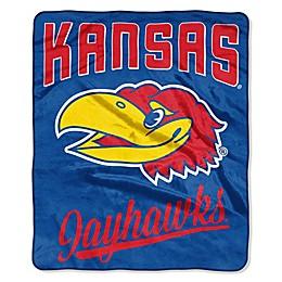 University of Kansas Raschel Throw Blanket