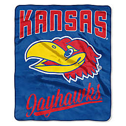 University of Kansas Raschel Throw Blanket