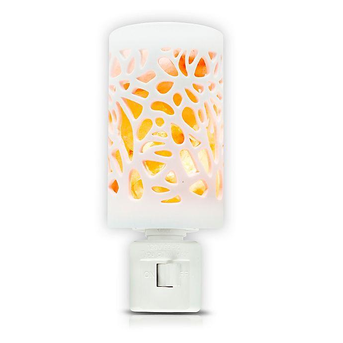 Alternate image 1 for Himalayan Glow® Crystal Salt Floral Ceramic Nightlight