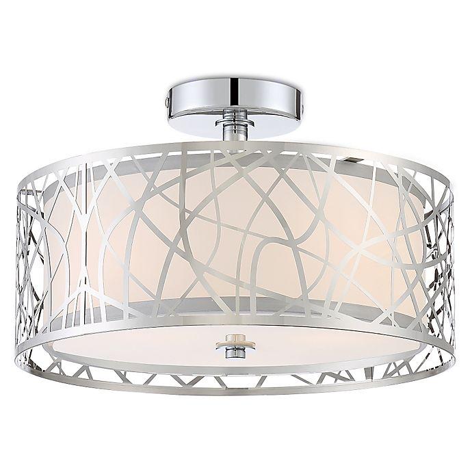 Alternate image 1 for Quoizel Platinum Collection Abode 3-Light Semi-Flush Mount Ceiling Lamp in Chrome